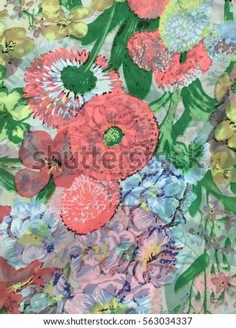 The beautiful of art fabric Batik Pattern