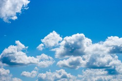 The beautiful of nature are blue sky and white cloud