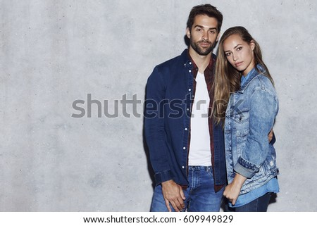 The beautiful people in jeans and denim, portrait