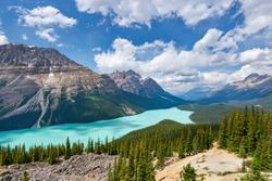 The beautiful Peyto lake in Alberta Canada.