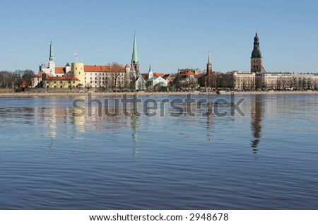The beautiful Riga city (Latvia).