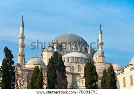 The beautiful S���¼leymaniye Camii  Istanbul, Turkey.