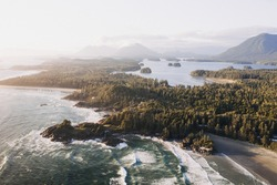 The beautiful scenery of a Pacific Rim National Park Reserve in Bamfield, Canada