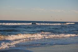The beautiful scenery of the Atlantic Ocean, Assateague Island, Maryland.