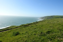 The beautiful scenery of the Point Reyes National Seashore in Marin County, Northern California.