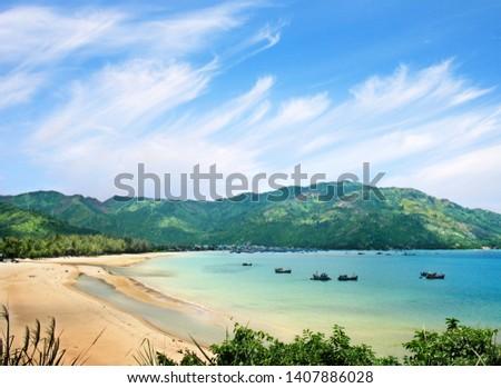 The beautiful seaside of Phu Yen in Vietnam #1407886028