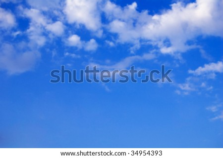 The beautiful sky with clouds. Welcome! More similar images available.