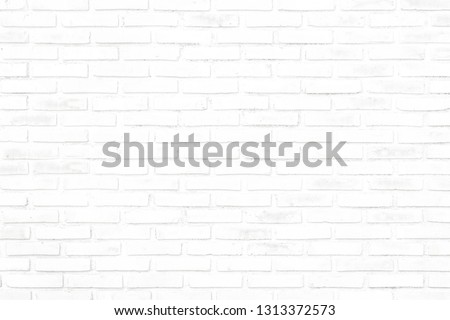 The Beautiful Soft Color of Brick Wall Texture as Background, White Brick Wall Texture