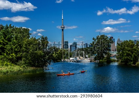 The beautiful Toronto Islands (Formerly Island of Hiawatha or Menecing). The islands are a popular recreational destination. Toronto, Ontario, Canada