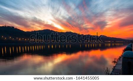 The beautiful twilight of lishui
