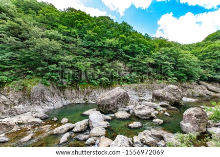 The beautiful valley in Jinan, Korea, Unil Rock Rock Rock. #1556972069