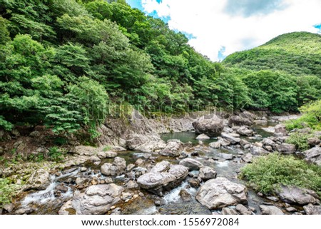 The beautiful valley in Jinan, Korea, Unil Rock Rock Rock. #1556972084