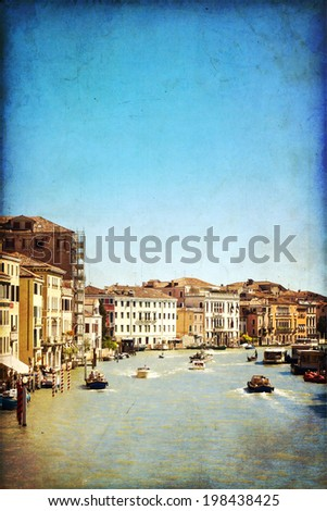 The beautiful view of a Canal Grande  in Venice, Italy #198438425