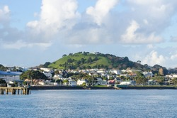 The beautiful view of Devonport in Auckland, New Zealand.