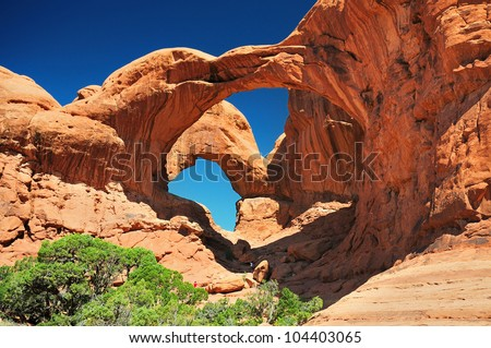 The beautiful view of double arch