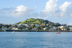 The beautiful view of Mount Victoria in Devonport, Auckland, New Zealand.