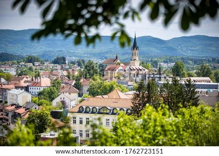 The beautiful view of Novo mesto, Slovenia Foto stock ©
