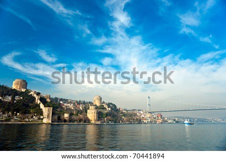 The beautiful View of Rumeli Fortress, Istanbul, Turkey.