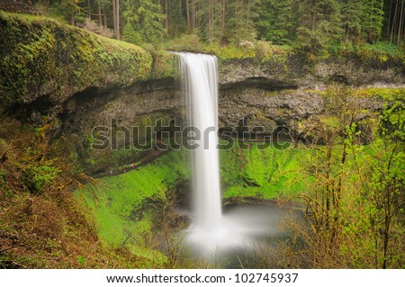 The Beautiful View Of Silver Falls