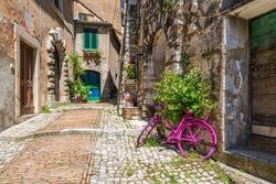 The beautiful village of Castro dei Volsci, near Frosinone, Lazio, Italy.