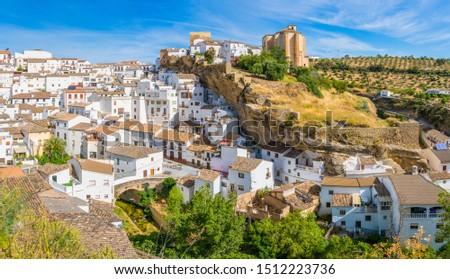The beautiful village of Setenil de las Bodegas, Provice of Cadiz, Andalusia, Spain. Foto stock ©