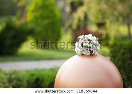 the beautiful white wedding bouquet of orchids