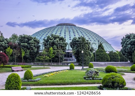 The beautifully Porto landscaped park of the Crystal Palace (Jardim do Palacio de Cristal, 1865). Public Crystal Palace gardens - the most beautiful gardens in Porto. Portugal.