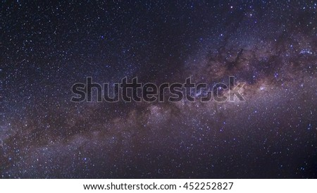 The beauty and clarity of the Milky Way and the starry sky captured from a full frame camera at 3200 iso and f/2.8. ** Note: Visible grain at 100% #452252827