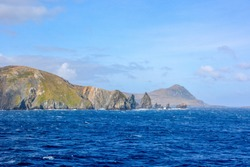The beauty of Chile Scenic cruising around Cape Horn, southernmost tip of South America. Panoramic view of Cape Horn, Tierra del Fuego Archipelago, Patagonia, Chile, South America.