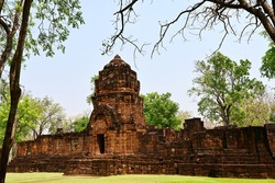 The beauty of the castle and the city wall (old castle still complete),built with laterite,are stacked together as Khmer art.In the Khmer Archaeological Site at Muang Sing Historical Park, Kanchanabur