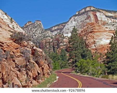 The beauty of Zion National Park, near Springdale, Utah