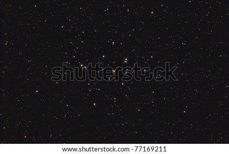 "The Beehive Cluster, also known as Praesepe (Latin for ""manger""), M44  is an open cluster in the constellation Cancer."