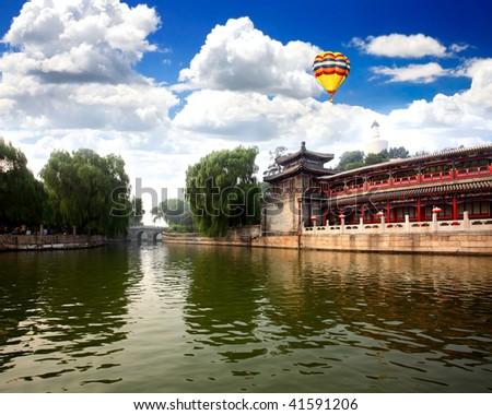 The Beihai (North-Sea) Park, a royal retreat near Forbidden City Beijing