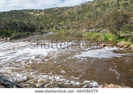 The Bell Rapids landscape where the Avon and Swan River meet in Brigadoon in the Swan Valley region in Western Australia/Rapids: Avon and Swan River/Brigadoon, Swan Valley Region, Western Australia