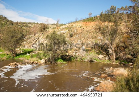 The Bell Rapids where the Avon and Swan River meet in Brigadoon in the Swan Valley region in Western Australia/Bell Rapids: Swan Valley/Brigadoon, Western Australia