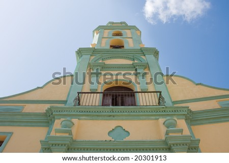 The bell tower of the Iglesia y Convento de San Francisco. Trinidad, Cuba.