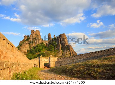 The Belogradchik Fortress; also known as Kaleto; is an ancient fortress close to the northwestern Bulgarian town of Belogradchik and the town\'s primary cultural and historical tourist attraction.