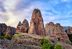 The Belogradchik Rocks are a group of strangely shaped sandstone and conglomerate rock formations.