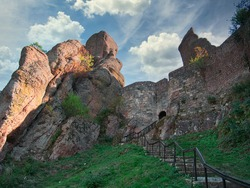 The Belogradchik Rocks, Balkan Mountains,Bulgaria. Belogradchik fortress.