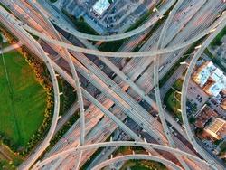 The Beltway 8 interchange in Houston Texas.