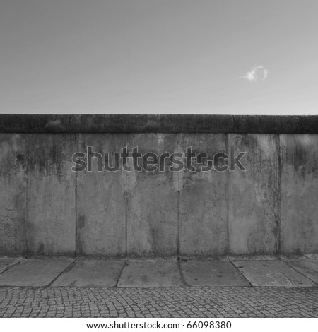 The Berlin Wall (Berliner Mauer) in Germany - stock photo