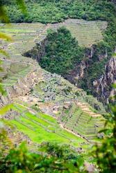 The best view of Machu Picchu from the Wayna Picchu Mountain, Huayna Picchu, Cusco Peru