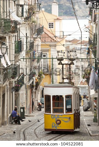 The Bica Funicular (Elevador da Bica or Ascensor da Bica) is a funicular in Lisbon, Portugal, that forms the connection between the Calcada do Combro/Rua do Loreto and the Rua de S. Paulo.