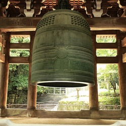 the big bell in Japanese buddhist temple(Kyoto Japan)