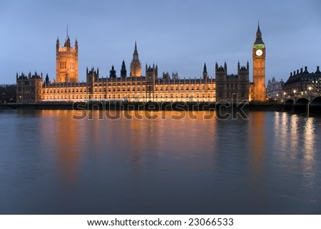 The Big Ben and the Houses of Parliament, London