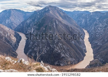 The big bend of Drina river Stock photo ©