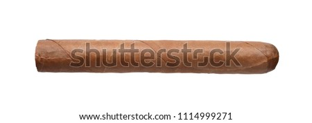 The big cigar isolated on a white background.