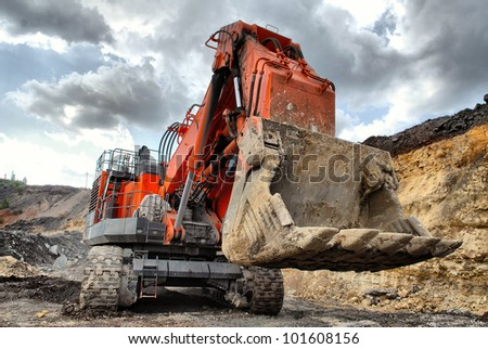 The big dredge digs the earth