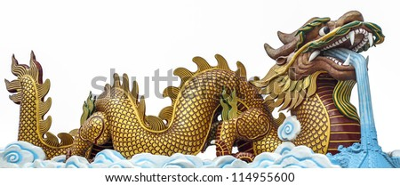 The big golden dragon, it can use for 2012 newyear symbol.
