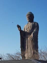 The big Japanese buddha sculpture
